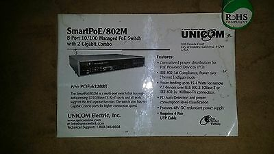 UNICOM SMARTPoE 802M 8 Port 10/100 Managed PoE Switch with 2 Gigabit Combo