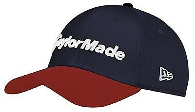 TaylorMade New Era 39thirty fitted Cap Golf Cap (Red/Navy)
