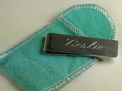 Tiffany & Co. Sterling Silver Money Clip With  Pouch