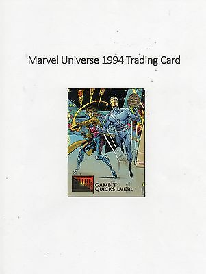 1994 Marvel Universe Trading Card #17 Fatal Attractions - Gambit / Quicksilver