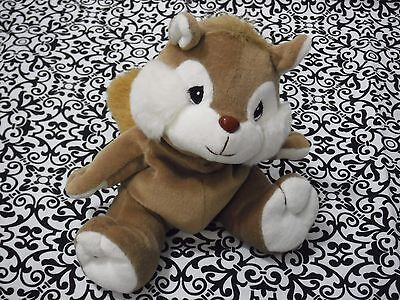 "Precious Moments Tender Tails Squirrel Beanbag Plush 6"" Sitting vintage Enesco"