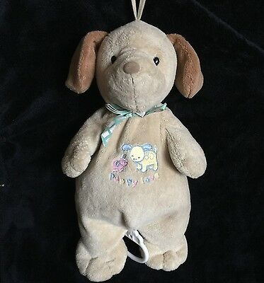"""Carter's Musical Baby Pull PUPPY LOVE Dog plush Brahms Lullaby Prestige Toy 12"""""""