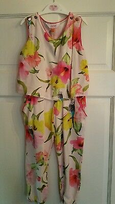 Ted Baker girls designer all in one trouser suit age 3-4