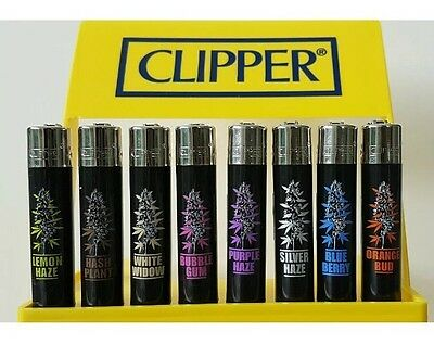 8 Rare Clipper Lighters - Weed Bud Strains Plants - Complete Collection x8 pcs