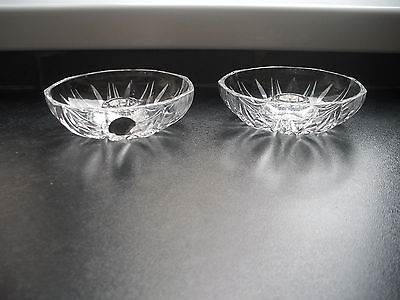 2 RCR, cut glass lead crystal candle holders