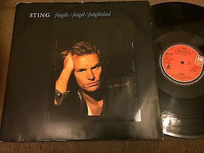 "Sting ‎– Fragile 12"" (A&M Records ‎– AMY 439)"