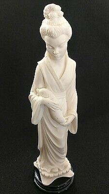 "Artist A. Giannelli Signed Sculpture Figurine Statue Oriental Woman 10"" Chinese"