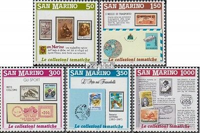 San Marino 1382-1386 (complete.issue.) unmounted mint / never hinged 1988 Philat