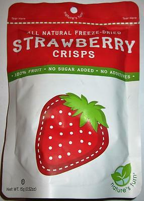 NATURE'S TURN LOW-CAL Freeze Dried Fruit Crisps STRAWBERRY ALL NATURAL FRESH