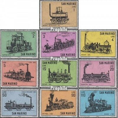 San Marino 814-823 (complete.issue.) unmounted mint / never hinged 1964 Old Loco