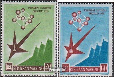 San Marino 590-591 (complete.issue.) unmounted mint / never hinged 1958 World an