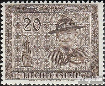 Liechtenstein 316 fine used / cancelled 1953 scouts conference