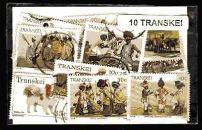 Transkei 10 timbres différents