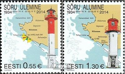 Estonia 808-809 (complete.issue.) unmounted mint / never hinged 2014 Lighthouses