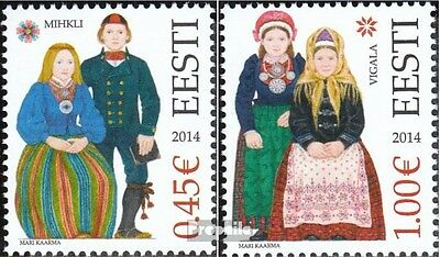 Estonia 790-791 (complete.issue.) unmounted mint / never hinged 2014 Costumes
