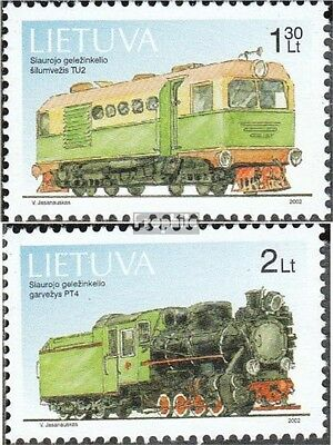 Lithuania 794-795 (complete.issue.) unmounted mint / never hinged 2002 Locomotiv