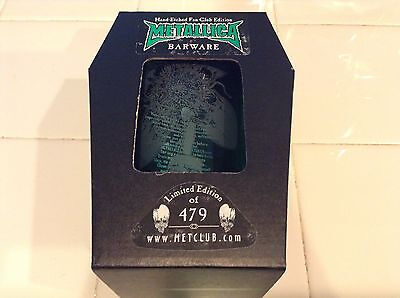 Metallica Barware No leaf Clover glass Pint Metclub NIB limited 1 of 479 Etched
