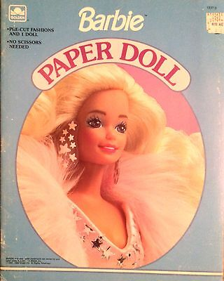 Barbie Paper Doll Book, Whitman 1991, Uncut, 4 Pages of Clothes