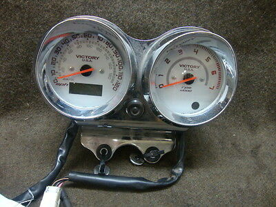 07 2007 Victory King Pin Gauges, Speedometer, Tachometer, 34K Miles #y14