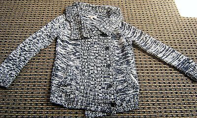Seed Girls Cotton Navy And White Cardigan Sz 6 - 7