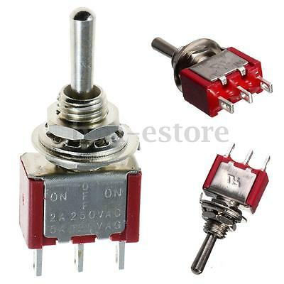 10PCS Red Pin Momentary On-Off-On Mini Small Toggle Switch Car Dash SPDT US Fast