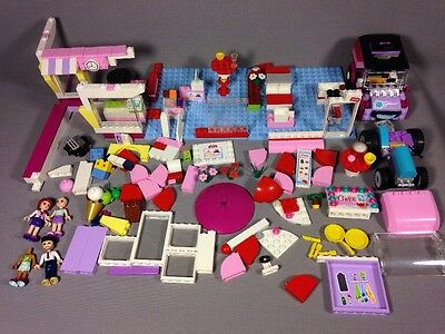 Bulk Lot of Loose LEGO Friends Bricks, Pieces and Parts Cafe Base Plates People