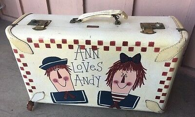 Vintage Raggedy Ann & Andy Suitcase Hand Painted