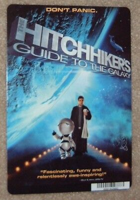 HITCHHIKERS GUIDE TO THE GALAXY promo art card (this is NOT a movie)
