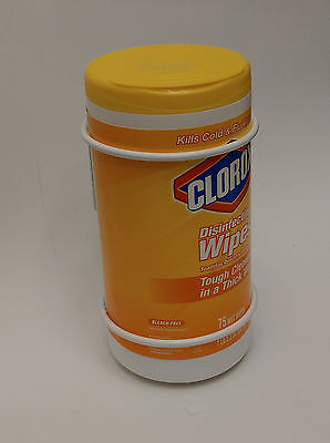 """Metal Wall Bracket- Wet Wipes Canister Holder, round D4-1/4"""", white, PN 50005"""