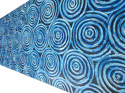 Aboriginal Art Billabong Art Painting in Oils by Jane Crawford  Australia 150cm