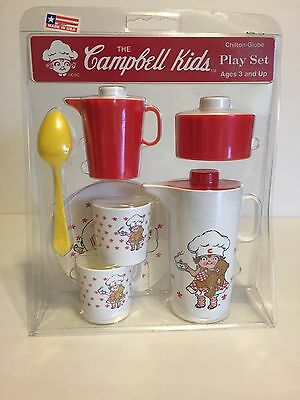 The Campbell Kids Play Set Dishes Tea Set Made In USA NEW!!