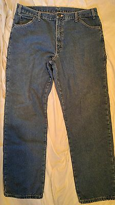 Men's Dickies Heavy Duty Insulated Flannel Lined Jeans Size 38X34  Relaxed Fit