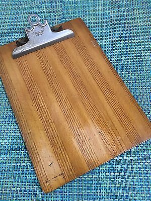 """Vtg 40/50's Wood Stripe Clipboard By Falcon 9"""" X 13"""" Letter Size Great Patina"""