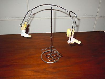 Trapeze Kids Kinetic Motion Sculpture Mid Century Modern Chrome 1970's