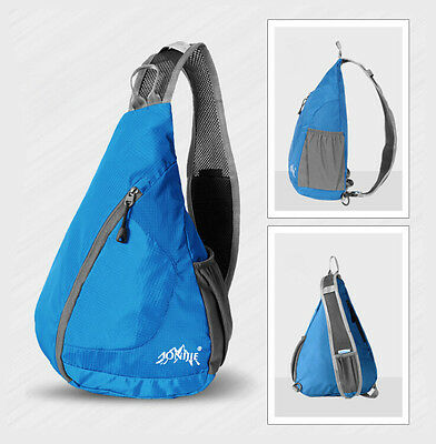 New! Blue Outdoor Chest Bag Outdoor Hiking Travel Sport Fashion Sling Backpack