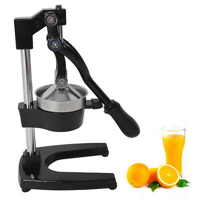 Orange Hand Press Commercial Manual Citrus Fruit Lemon Juicer Juice Squeezer New