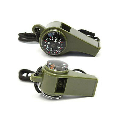 UI 3 In 1 Multi-function Survival Safety Whistle Compass life-saving Lifeguard