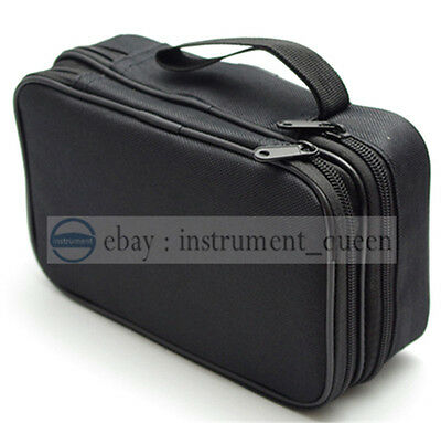 Double Layer Zipper Carrying Case Fluke multimeters 15B 17B 18B 115 116 117 175