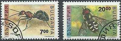 Timbres Insectes Bulgarie 3461/2 lot 18551