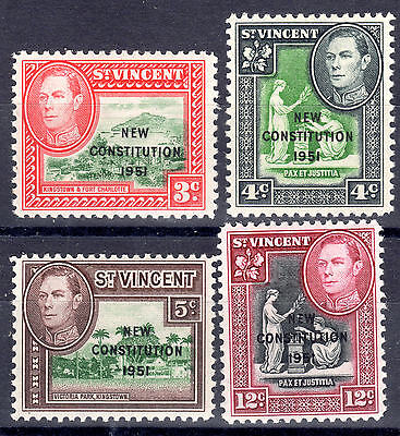 St Vincent set of 4 mnh./mm 1951