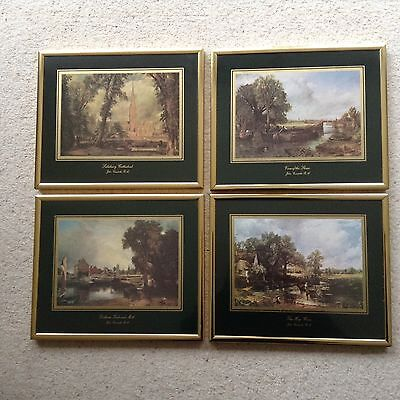 Four Framed Prints Of Well Known Paintings By John Constable