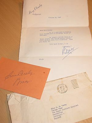 Bing Crosby Autograph 1947 Signed Letter With  Original Envelope