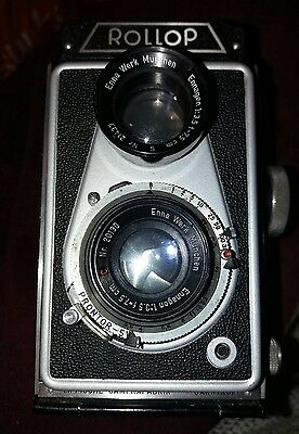 RARE Vintage Cased Lippische Rollop Twin Lens Reflex Camera 3.5f  Ennagon 75mm.