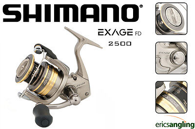 Shimano Exage 2500 FD Reel, Spinning, Match, Feeder, Drop Shot, Fixed Spool