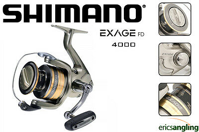 Shimano Exage 4000 FD Reel, Spinning, Match, Feeder, Front Drag, Fixed Spool,