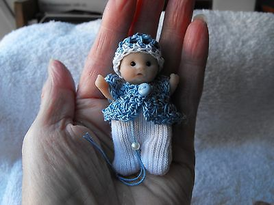 OOAK artist   miniature   Jointed  BABY boy DOLL  5cm  polymer  clay by HARRY