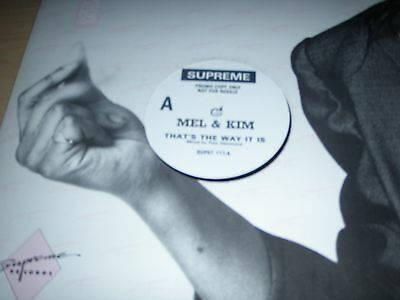"""Mel & Kim That's The Way It Is Single-Sided 12"""" Promo 1988 Supreme SUPET 117"""