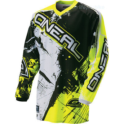 O'neal Element Shocker Jersey Downhilll Mtb Bmx Motocross Enduro Dirt Neon Gelb