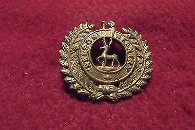 Post WW I New Zealand Brass Cap Badge To The 12th Nelson Infantry
