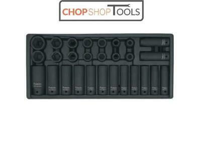 """Sealey Tool Tray Chest with Impact Socket Set 28 Piece 1/2""""Sq Drive Metric TBT24"""